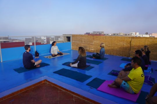 Yoga and surfing in Morocco